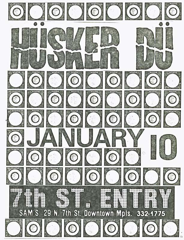 Hüsker Dü flyer, 10 Jan 1981