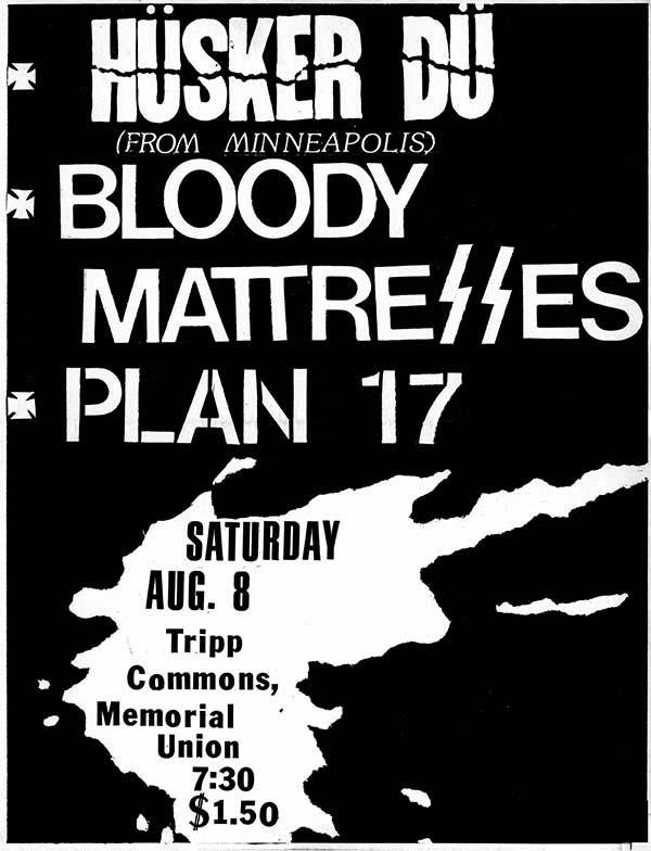 Hüsker Dü flyer, 08 Aug 1981