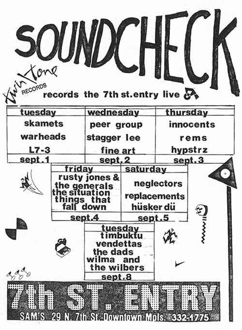 Hüsker Dü 05 Sep 1981 print ad