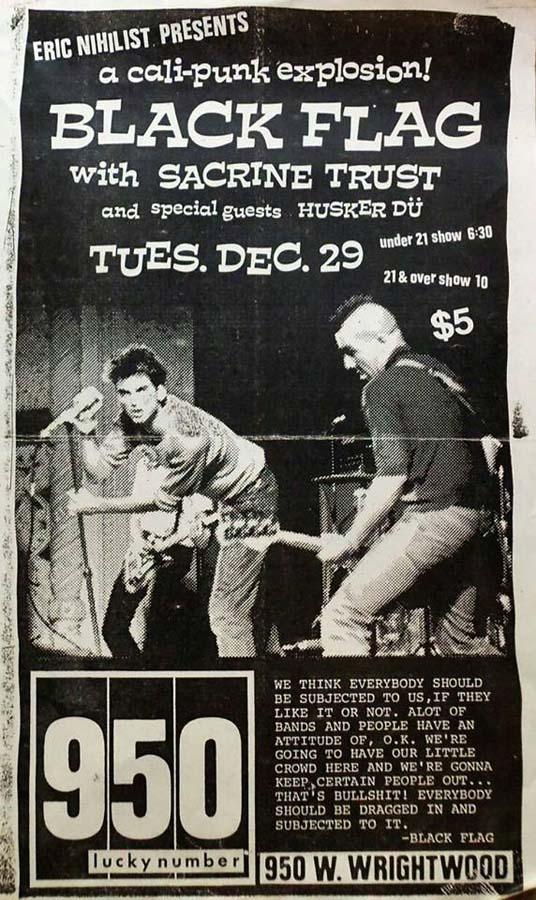 Hüsker Dü 29 Dec 1981