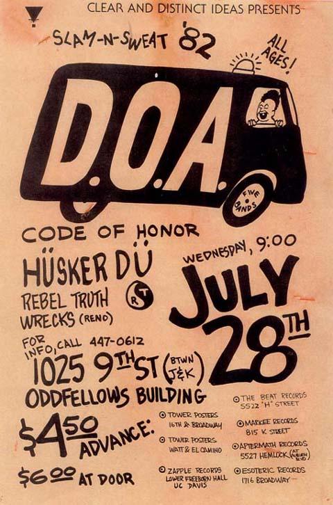 Hüsker Dü 28 Jul 1982