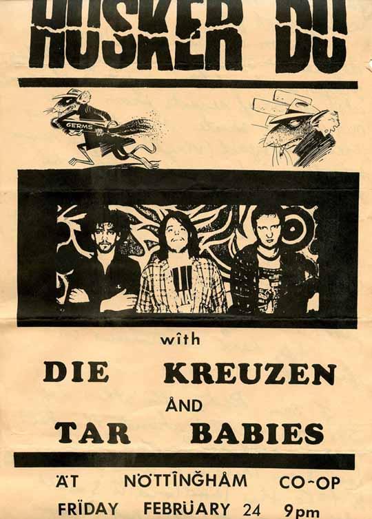 Hüsker Dü 24 Feb 1984 flyer