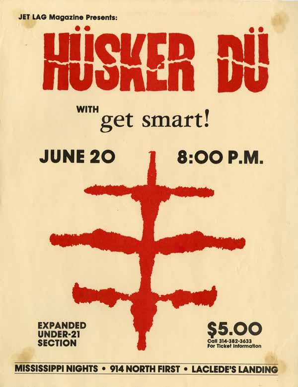 Hüsker Dü 20 Jun 1985 flyer