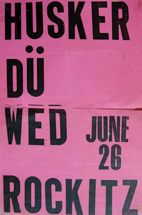 Hüsker Dü 26 Jun 1985 flyer