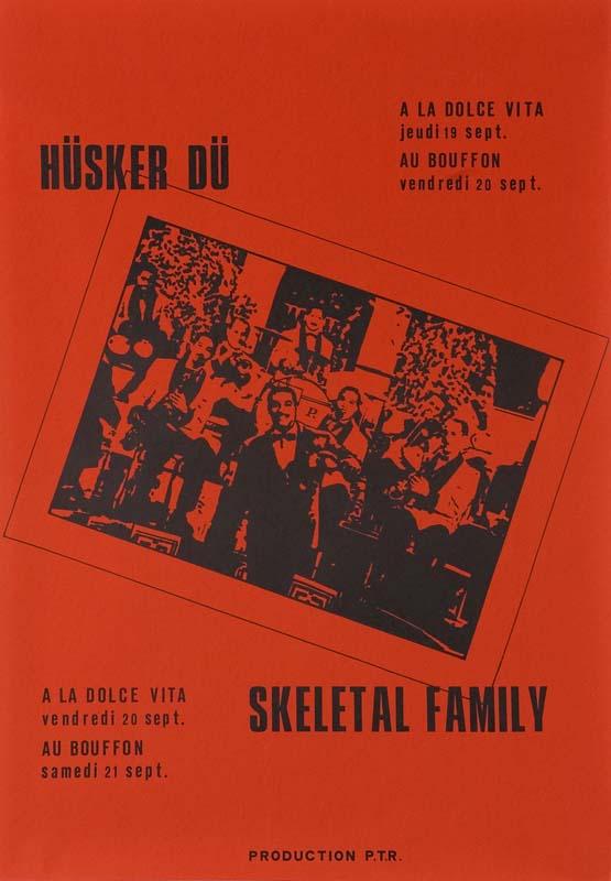 Hüsker Dü flyer, 19-20 Sep 1985, Lausanne & Geneva