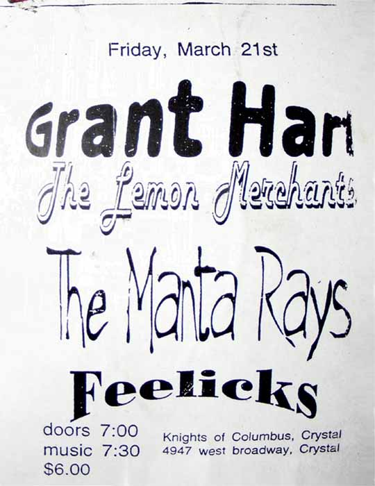 Grant Hart 21 Mar 1997 flyer