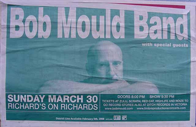 Bob Mould Band 30 Mar 2008 flyer